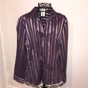 FDL French Dressing Button Down Blouse Sz 16